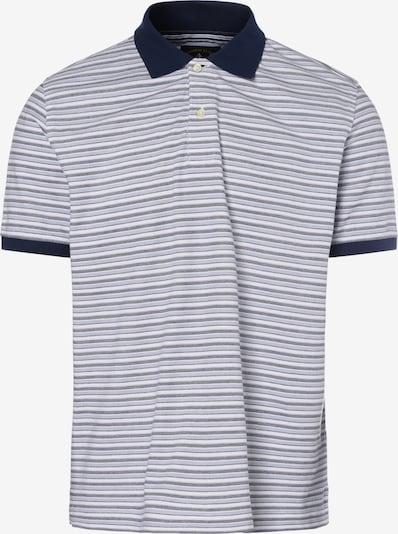 Andrew James Poloshirt in nachtblau / rauchgrau / weiß, Produktansicht