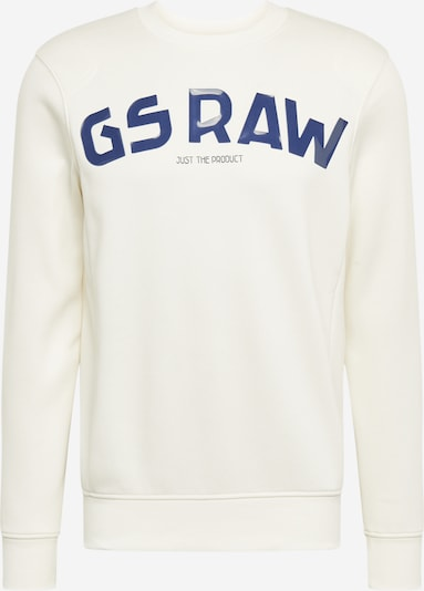 G-Star RAW Sweatshirt in blau / weiß, Produktansicht