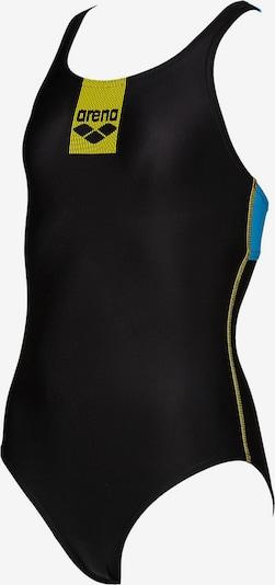 ARENA Badeanzug in blau / gelb / schwarz: Frontalansicht