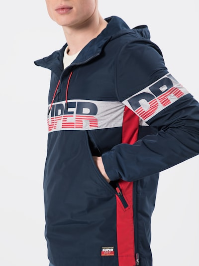 Superdry Windbreaker 'Ryley Overhead' in navy | ABOUT YOU