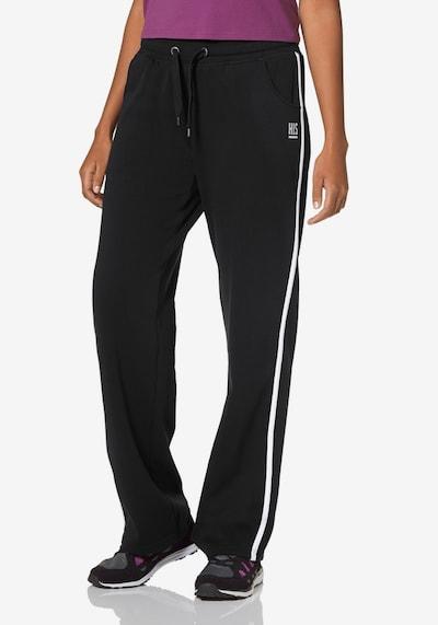 H.I.S Jogginghose in schwarz / weiß, Modelansicht