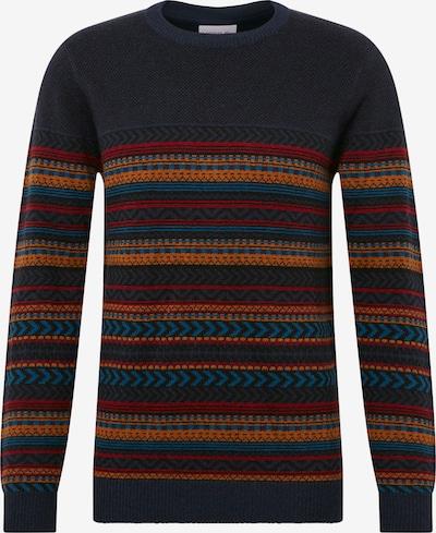 Lindbergh Kampsun 'Jacquard knit' meresinine / kollane / punane, Tootevaade