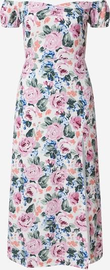 Fashion Union Kleid 'ELZA' in türkis / rosa / weiß, Produktansicht