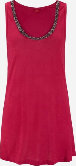 s.Oliver Beachwear Top mit Glitzerdetail in rot, Produktansicht