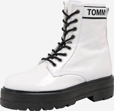 Tommy Jeans Stiefelette 'PATENT LEATHER FLATFORM BOOT' in offwhite, Produktansicht