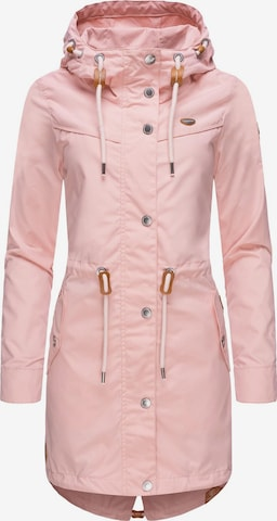Ragwear Between-Seasons Parka 'Canny' in Pink