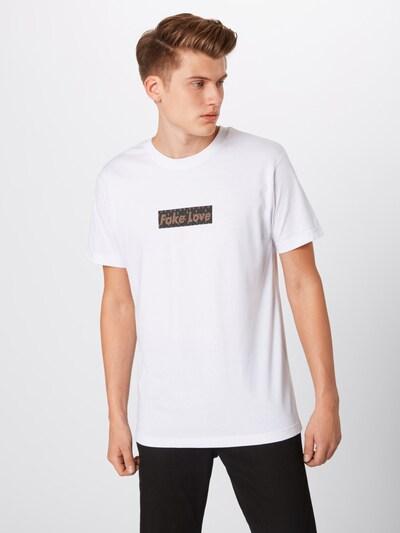 Mister Tee T-Shirt 'Fake Love' in schwarz / weiß: Frontalansicht