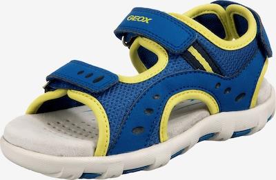 GEOX Kids Sandale 'Pianeta' in blau / gelb, Produktansicht