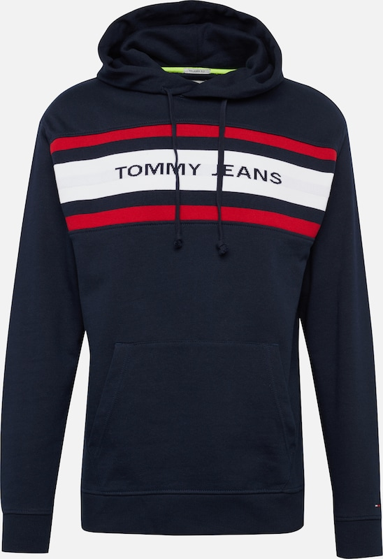 Jeans DonkerblauwRood Hoodie' Wit 'tjm Sweatshirt In Tommy Fleece H9YW2IED