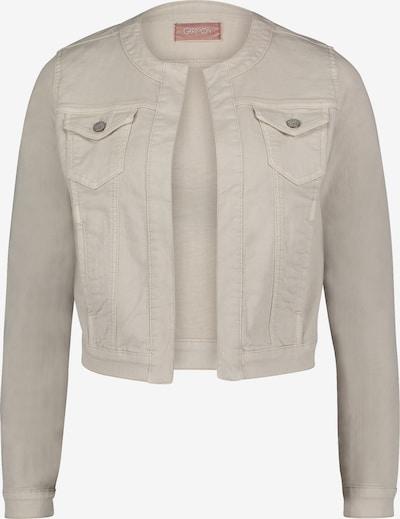 Cartoon Jeansjacke ohne Verschluss in beige, Produktansicht