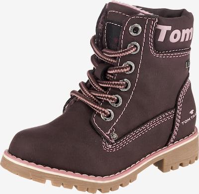 TOM TAILOR Winterstiefel in dunkelbraun / rosa, Produktansicht