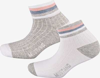 MUSTANG Socken 'Fashion Quarter' in blau / graumeliert / apricot / weiß, Produktansicht