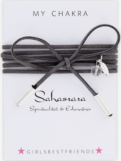 YOGISTAR.COM Choker 'Mychakra' in taupe / silber, Produktansicht