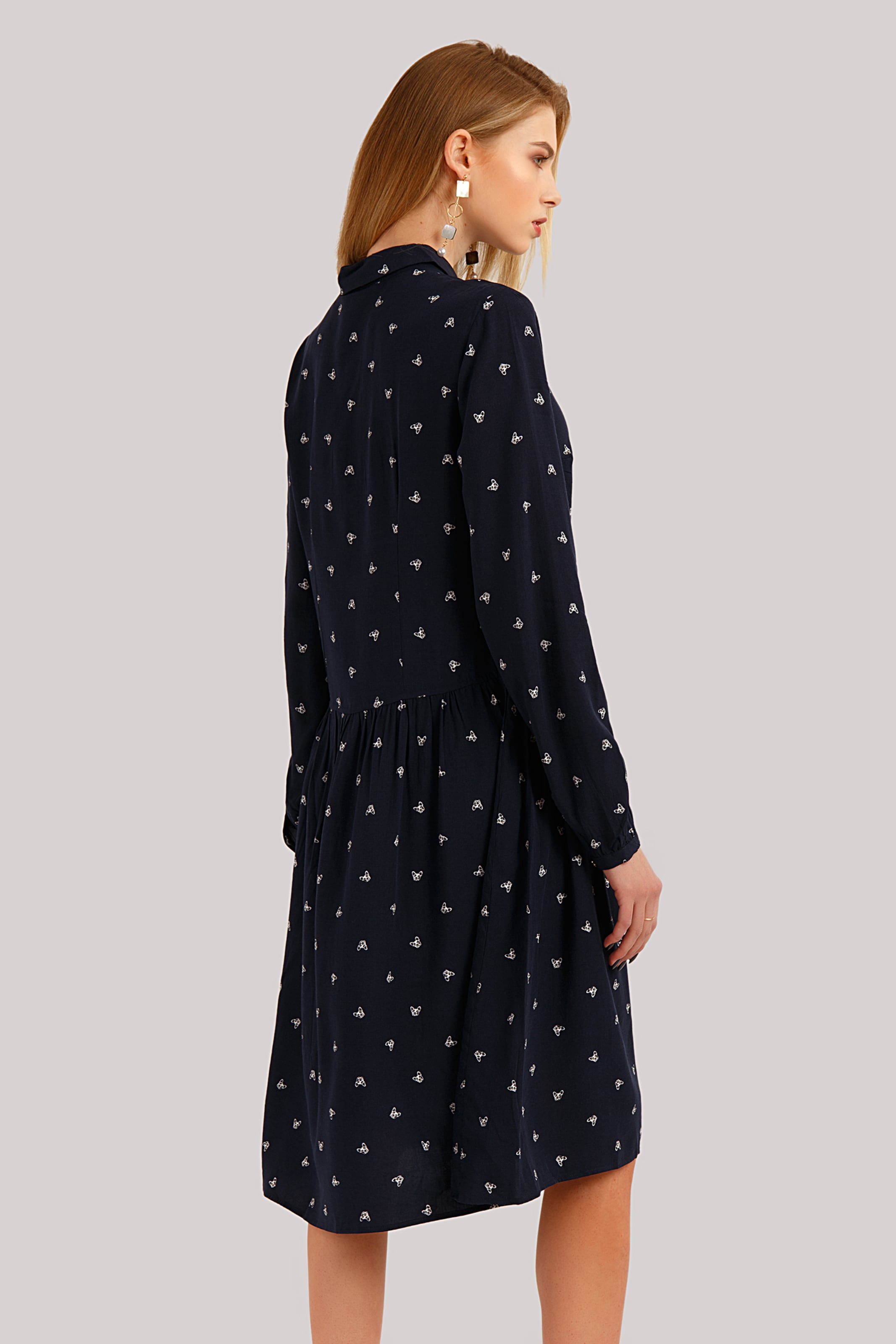 Finn In Finn Flare In NachtblauWeiß Flare Kleid Kleid dCoeWrxB