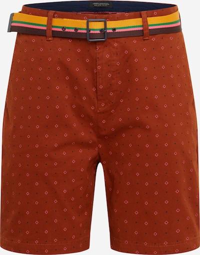 SCOTCH & SODA Pantalon chino en marron / rose, Vue avec produit