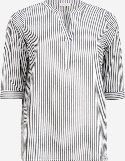 ONLY Carmakoma Blouse in de kleur Grijs / Wit, Productweergave