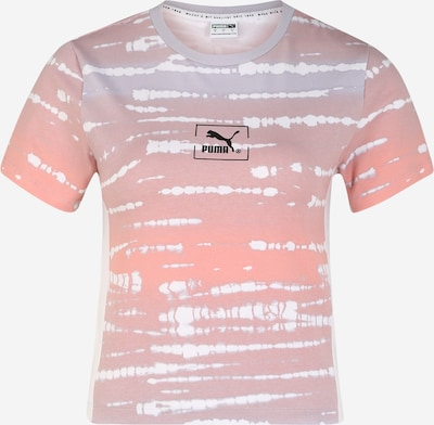 PUMA Shirt 'TIE DYE AOP Tee Wmns' in flieder / orange, Produktansicht