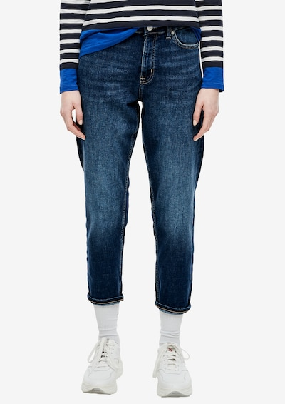 s.Oliver Boyfriend-Jeans in blue denim, Modelansicht
