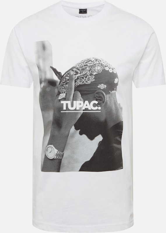 Mister Tee Shirt '2Pac F*ck The World' in de kleur Zwart / Wit, Productweergave