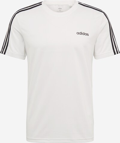 Sportiniai marškinėliai 'M D2M 3S TEE' iš ADIDAS PERFORMANCE , spalva - juoda / balta, Prekių apžvalga
