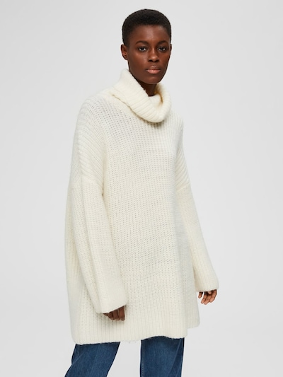 SELECTED FEMME Oversized trui in de kleur Offwhite, Modelweergave