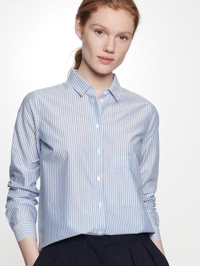 SEIDENSTICKER Bluse in opal / weiß, Modelansicht