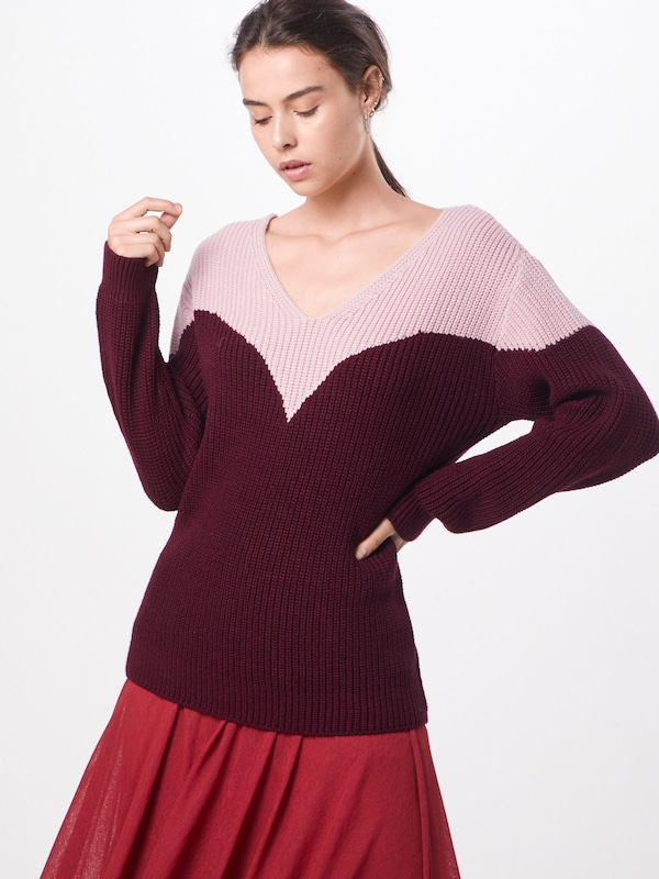 ABOUT YOU Pullover 'Hanke' in rosa / bordeaux, Modelansicht