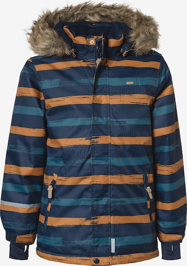 MINYMO Skijacke HERRINGBONE W in himmelblau / dunkelblau / honig, Produktansicht
