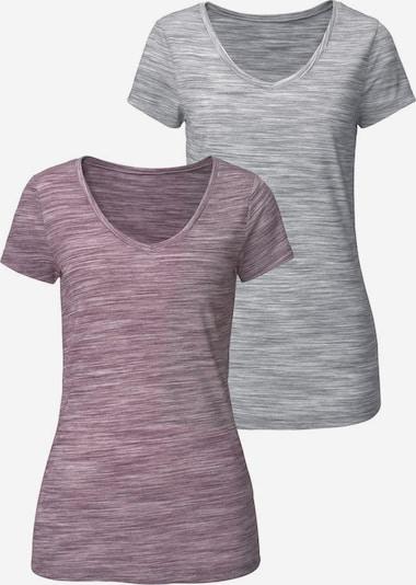 BEACH TIME T-Shirts (2 Stck.) in grau / lila, Produktansicht
