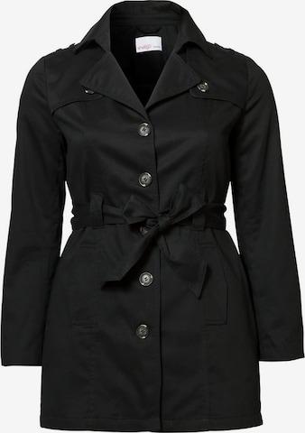SHEEGO Płaszcz przejściowy w kolorze czarny