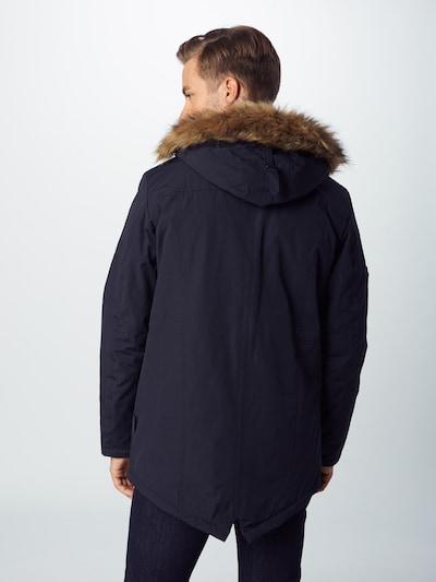 Ilga žieminė striukė 'Leake' iš INDICODE JEANS , spalva - juoda: Vaizdas iš galinės pusės