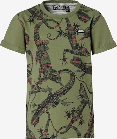 TUMBLE N' DRY T-Shirt 'Wymer' in khaki / koralle / schwarz, Produktansicht