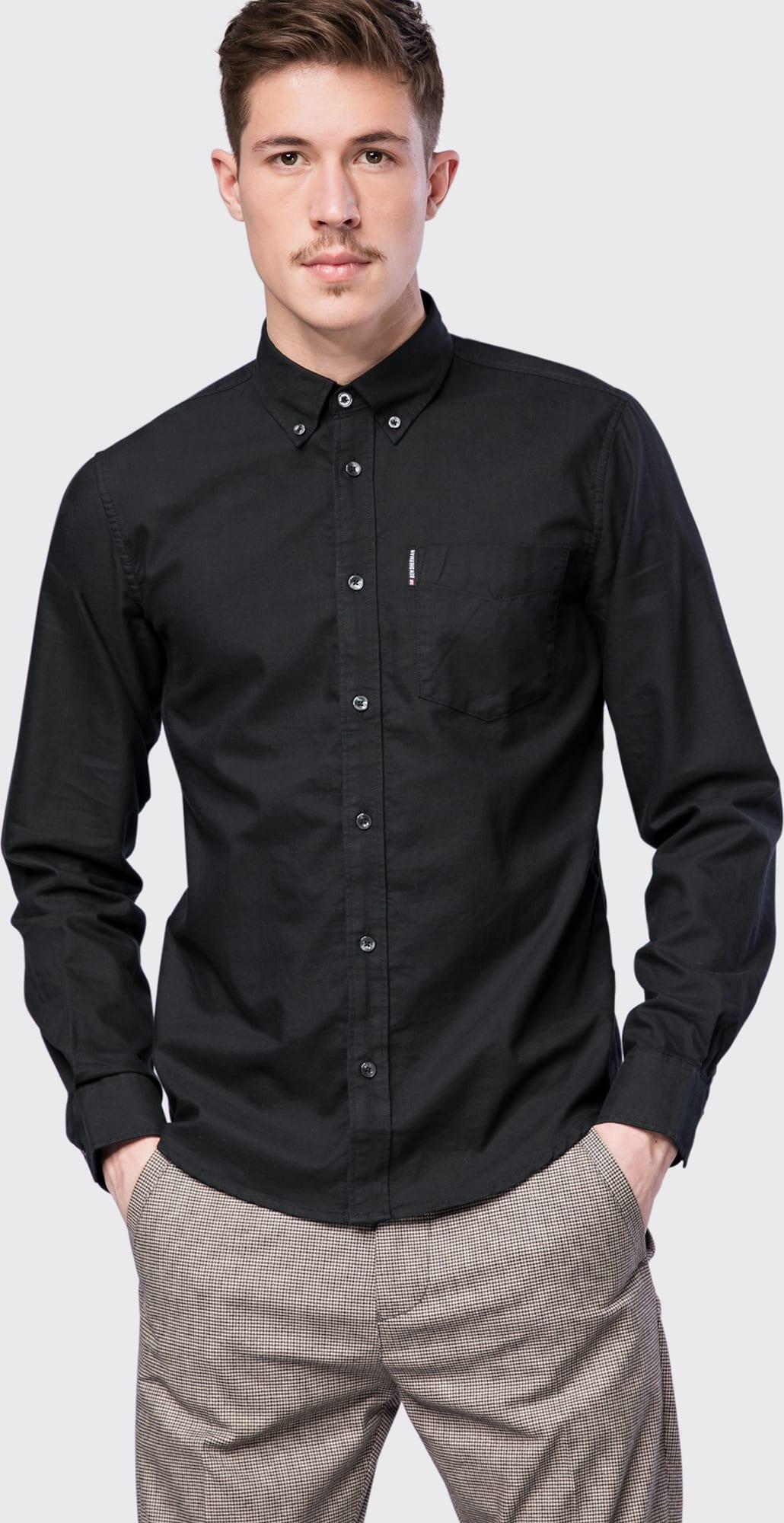 ben sherman hemd 39 ls core oxford shirt 39 in schwarz about you. Black Bedroom Furniture Sets. Home Design Ideas
