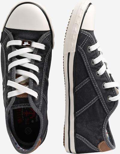 MUSTANG Låg sneaker i chamois / svartmelerad: Sidovy