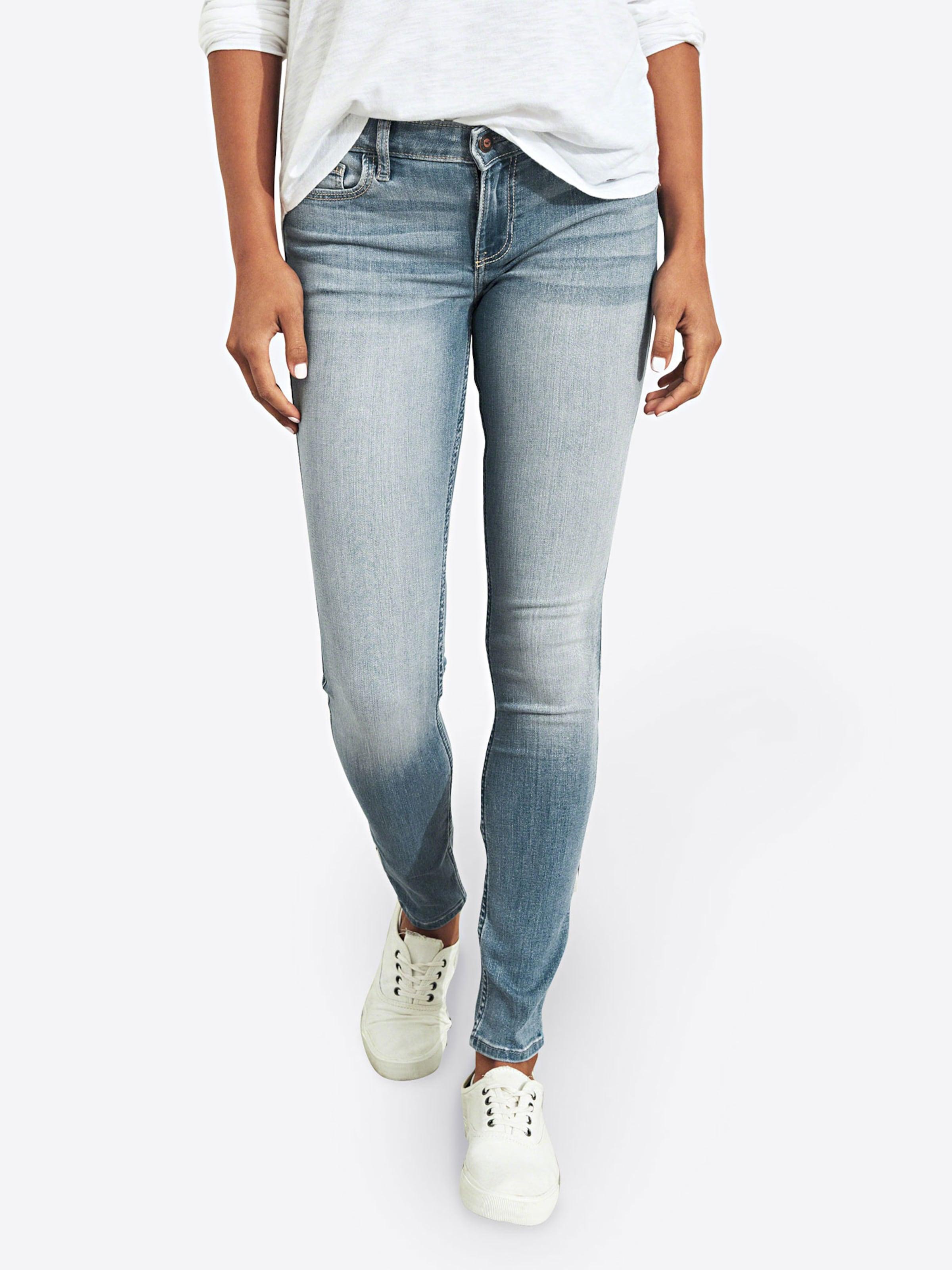 Jeans Medium' Denim Blue Hollister 'clean In bYg7yvf6