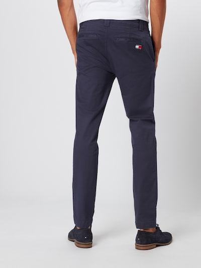 Tommy Jeans Pantalon chino en bleu-gris: Vue de dos
