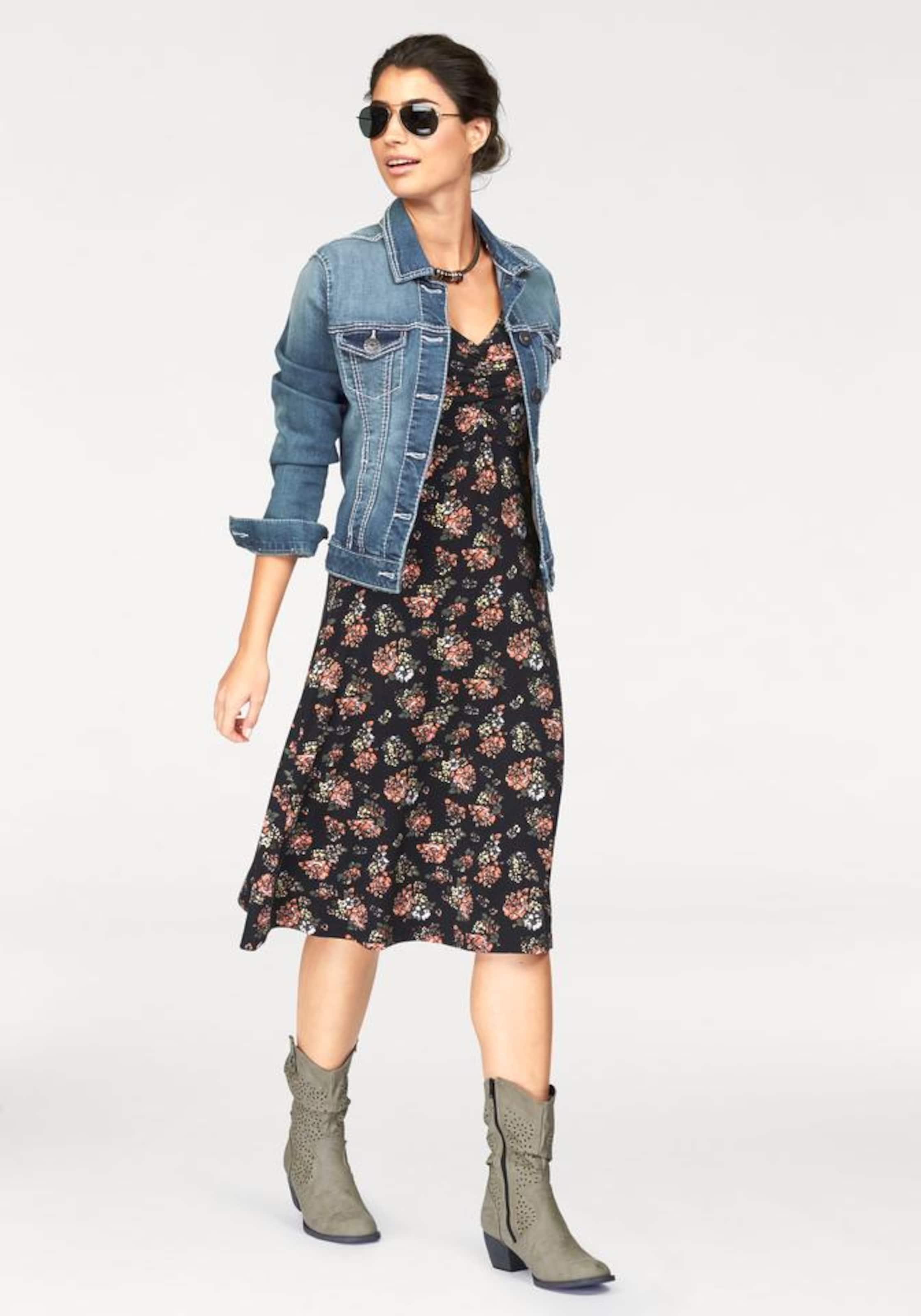 Boysen's Boysen's Jerseykleid MischfarbenSchwarz Jerseykleid In BCxdoe
