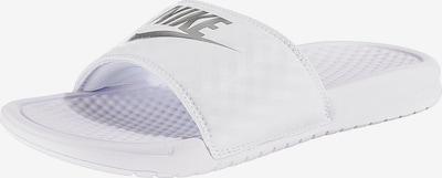 Šlepetės 'Benassi Just Do It' iš Nike Sportswear , spalva - tamsiai pilka / balta, Prekių apžvalga