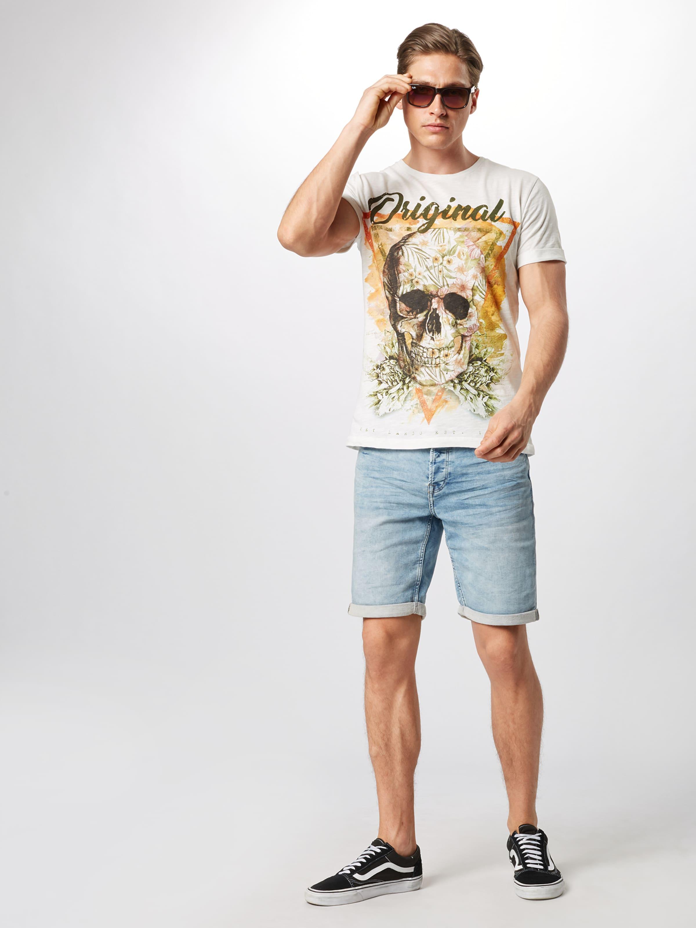 Largo Key In Skull' Triangle 'mt MischfarbenWeiß Shirt WrdCoBEQxe