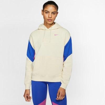 Nike Sportswear Sweatshirt in beige / blau: Frontalansicht