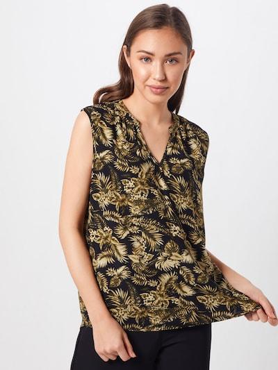 Soyaconcept Blusentop in beige / dunkelgrün / schwarz, Modelansicht