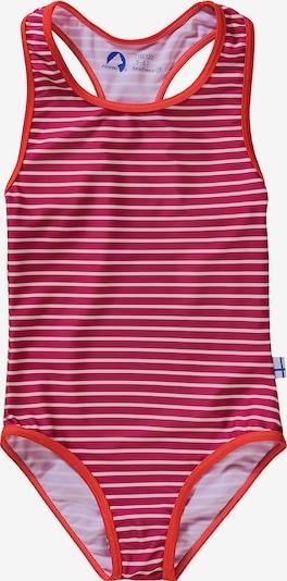 FINKID Badeanzug ´Niemi` in pink / pastellrot, Produktansicht