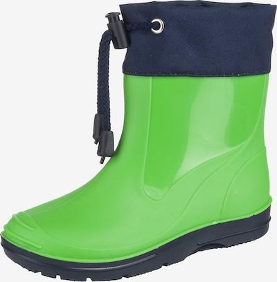 BECK Regenlaarzen in de kleur Navy / Groen, Productweergave