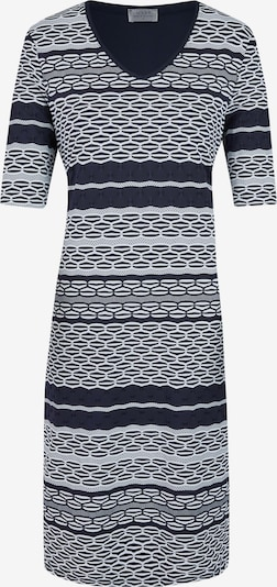 Seidel Moden Kleid in navy / weiß: Frontalansicht