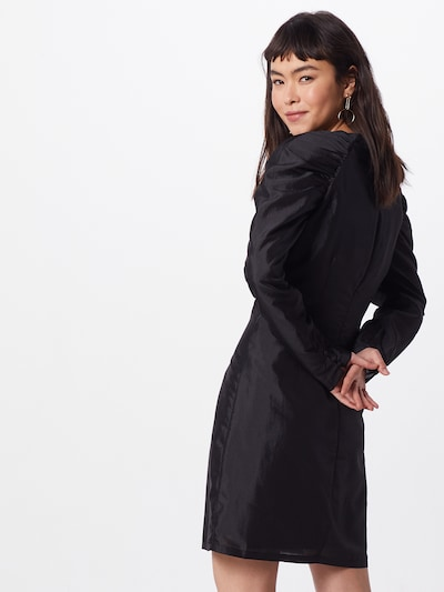 Neo Noir Kleid 'Lucretia' in schwarz: Rückansicht