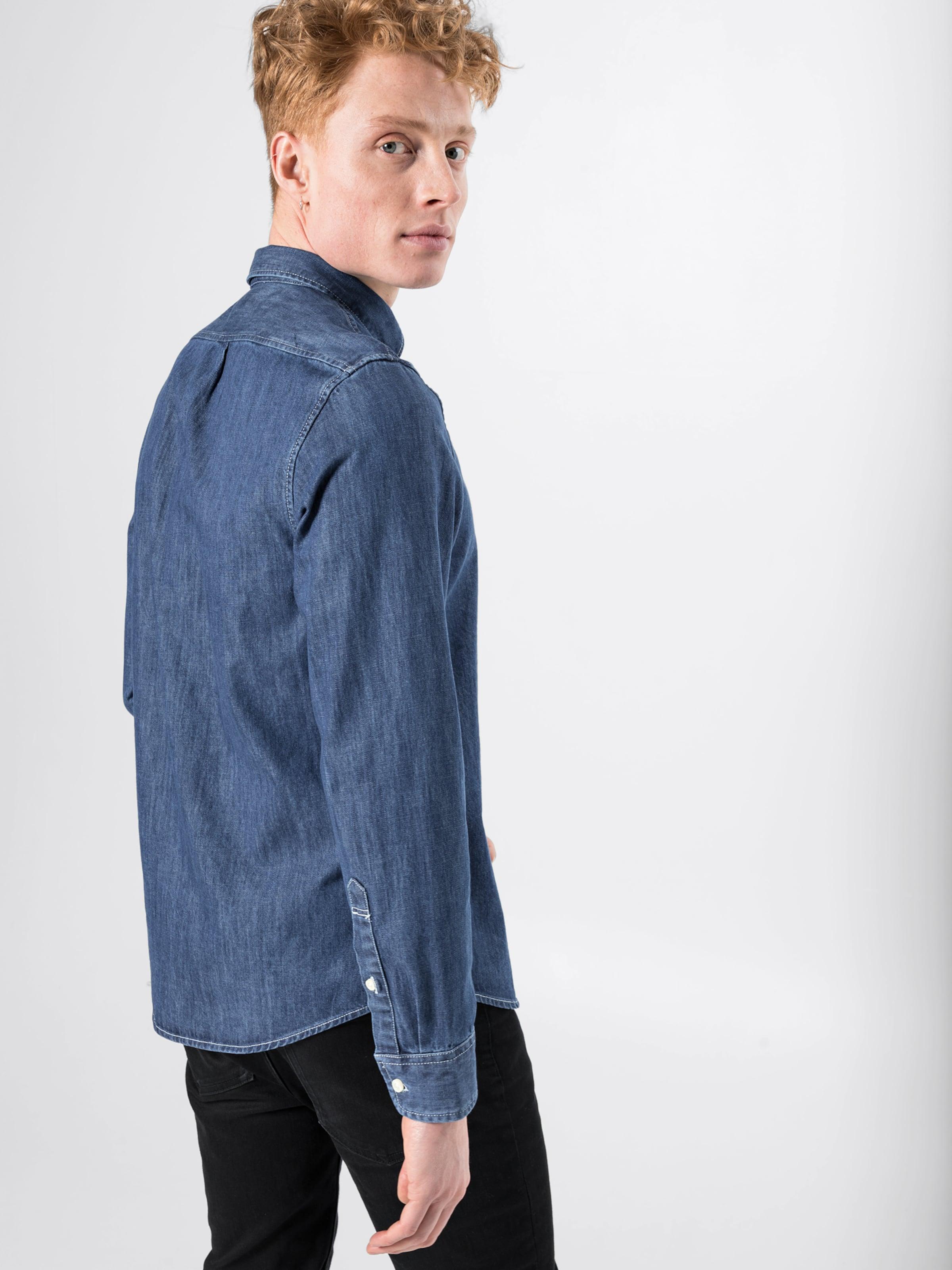 Lee Blue Denim Hemd In Hemd Lee XZuOikP