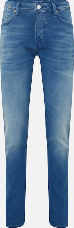 JACK & JONES Jeans 'The Leon' in blue denim: Frontalansicht