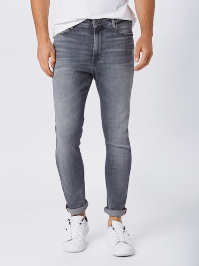 Tommy Jeans Jeans 'Simon' in grey denim: Frontalansicht