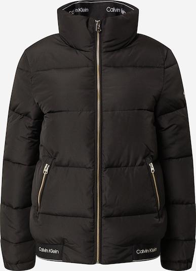 Calvin Klein Kurtka zimowa w kolorze czarny / białym: Widok z przodu