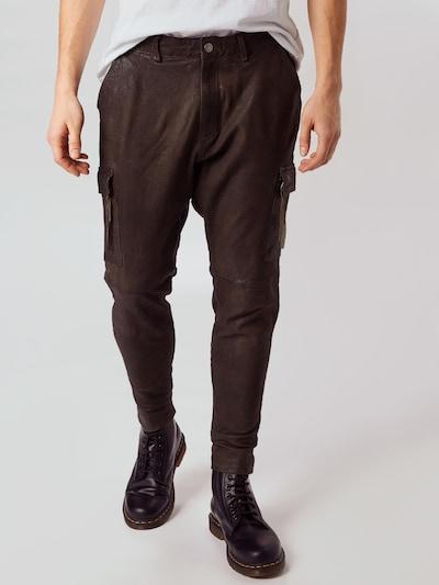 Pantaloni cu buzunare 'Zeno' tigha pe maro castaniu, Vizualizare model